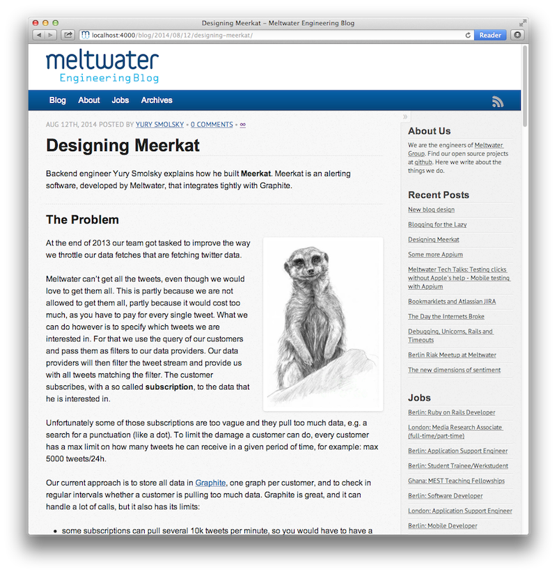 New design for the under the hood blog - Meltwater